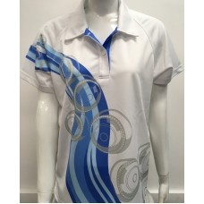 Invictus Ladies Wave Polo Blue