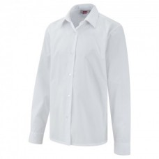 "Girls White Long Sleeve Blouse Twinpack (30""-34"")"