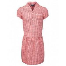 Red Ashley Corded Gingham Dress - Reduced To Clear