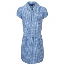 Blue Ashley Corded Gingham Dress - Reduced to Clear