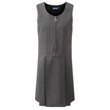 Lynton Grey Pleated Pinafore