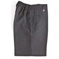 Zeco Boys Elasticated Zip Up Grey Shorts