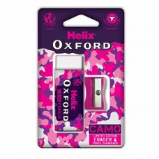Helix Oxford Camo Eraser And Pencil Sharpener